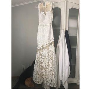 White Jovani Dress 21226